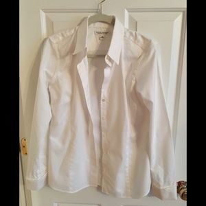Banana Republic White Button Down Shirt
